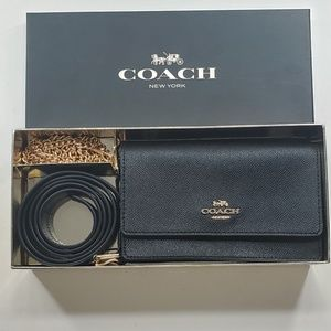 *BRAND NEW* COACH BLACK Convertible Belt Bag